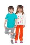 Portret van twee manierkinderen stock fotografie