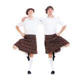 Portret van twee Schotse dansers Royalty-vrije Stock Afbeelding