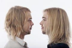 Portret van tweelingbroers Stock Afbeelding
