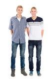 Portret van tweelingbroers Royalty-vrije Stock Afbeeldingen