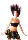 Portret van verraste vrouw. Stock Foto's