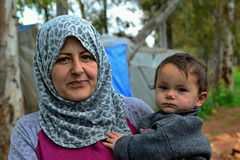 Portret van vluchtelingen Royalty-vrije Stock Foto's