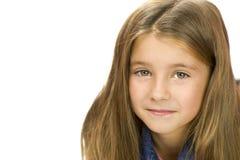 Portret van vriendelijk meisje Stock Afbeelding