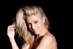 Portret van vrij blonde vrouw Royalty-vrije Stock Foto