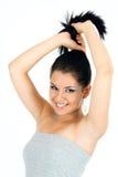 Portret van vrij het jonge meisje glimlachen Royalty-vrije Stock Foto's
