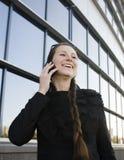 Portret van vrij jonge bedrijfsvrouw Stock Foto's