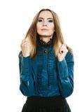 Portret van vrij jonge vrouw in retro stijl Stock Afbeelding