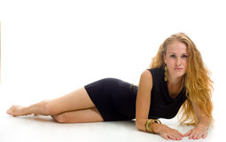 Portret van vrij modieus meisje royalty-vrije stock foto's