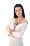 Portret van vrij trendy vrouw Royalty-vrije Stock Fotografie