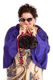 Portret van vrolijke vrouw Royalty-vrije Stock Foto's