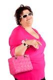 Portret van vrolijke vrouw Stock Fotografie