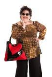 Portret van vrolijke vrouw Stock Foto's