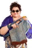 Portret van vrolijke vrouw Royalty-vrije Stock Foto