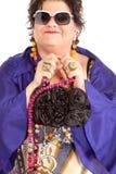 Portret van vrolijke vrouw Royalty-vrije Stock Fotografie