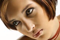 Portret van vrouw. Stock Afbeelding
