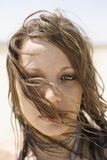 Portret van vrouw. Royalty-vrije Stock Fotografie