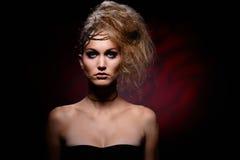 Portret van vrouw in Halloween-make-up royalty-vrije stock afbeeldingen