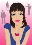 Portret van vrouw in liefde Stock Foto