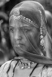 Portret van vrouw met behandeld gezicht Royalty-vrije Stock Foto