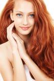 Portret van vrouw met mooi haar Stock Fotografie