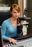 Portret van vrouwelijk DJ Royalty-vrije Stock Foto's