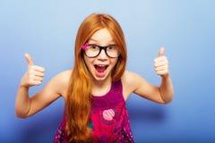 Portret van weinig 10 éénjarigenmeisje Stock Foto