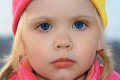 Portret van weinig gir Stock Foto