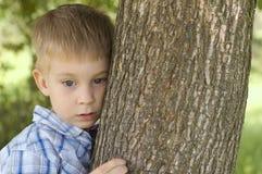 Portret van weinig jongen stock fotografie