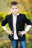 Portret van weinig jongen Royalty-vrije Stock Foto's