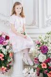 Portret van weinig leuk meisje Royalty-vrije Stock Foto