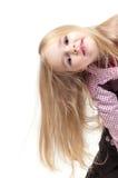 Portret van weinig leuk meisje met lang haar Royalty-vrije Stock Fotografie