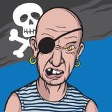 Portret van woedende piraat Stock Afbeeldingen