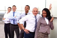 Portret van Zaken Team Outside Office Royalty-vrije Stock Afbeeldingen