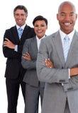 Portret van zeker commercieel team Stock Afbeeldingen