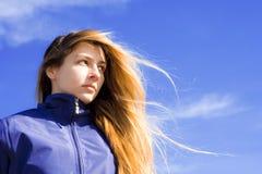 Portret van zekere jonge vrouw Royalty-vrije Stock Foto