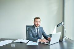 Portret van Zekere Manager royalty-vrije stock afbeeldingen