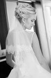 Portret van zelfverzekerde bruid royalty-vrije stock fotografie