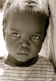 Portret van zwart meisje Stock Afbeeldingen