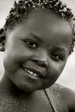 Portret van zwart meisje Stock Foto's