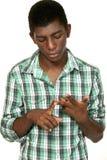 Portret van zwarte jongen royalty-vrije stock afbeelding