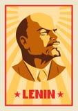 Portret Vladimir Lenin Plakata stylizowany styl Lider USSR Rosyjski rewolucyjny symbol royalty ilustracja