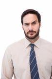 Portret wątpliwy młody biznesmen Obrazy Royalty Free