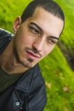 Portret Włoski mężczyzna z krótkim włosy Obraz Royalty Free