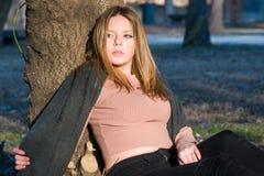 Portret w parku zdjęcie royalty free