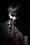Portret wampir krew zdjęcia royalty free
