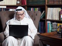 Portret Washington Post ` s Saudyjski dziennikarz Jamal Khashoggi zdjęcie stock