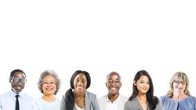 Portret Wieloetniczni Różnorodni ludzie biznesu zdjęcia stock