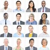 Portret Wieloetniczni Różnorodni ludzie biznesu obrazy stock
