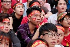 Portret Wietnamscy fan piłki nożnej Zdjęcie Royalty Free