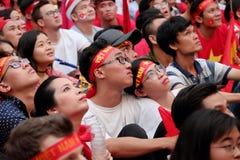 Portret Wietnamscy fan piłki nożnej Zdjęcia Royalty Free